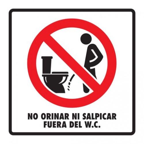 Se mod 089 20x20 no orinar fuera d wc extintores san for Bano fuera de servicio